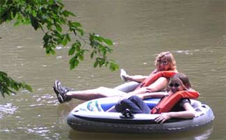 Tubing on down the river